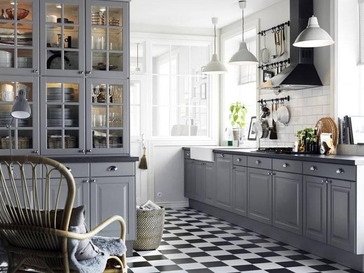 использование серого цвета в интерьере кухни