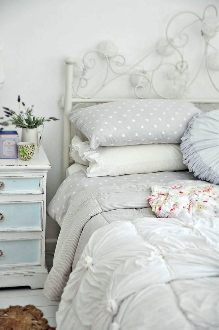 Дизайн интерьера спальни в стиле шебби-шик фото