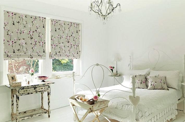винтажные элементы в интерьере спальни в стиле шебби-шик