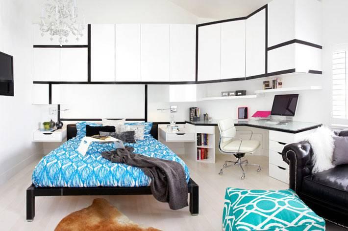 комната для подростка, дизайн интерьера