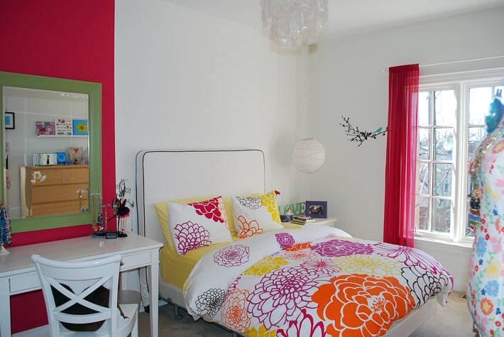 интерьер подростковой комнаты для девочки