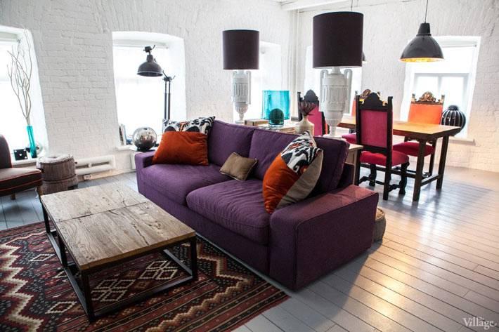 дизайн квартиры в москве с белыми кирпичными стенами