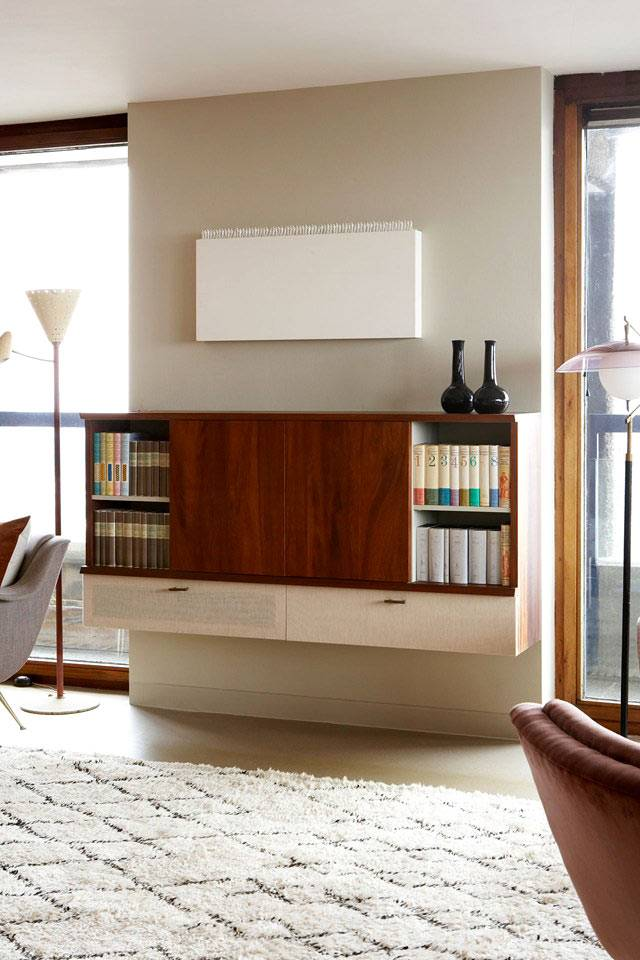 ретро-мебель в интерьере квартиры фото