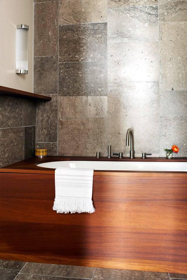 деревянный короб для ванны фото