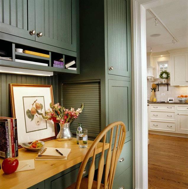 удобное рабочее место на кухне фото