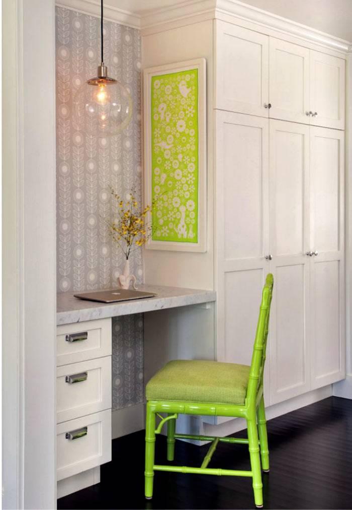 салатовый стул к белому кухонному гарнитуру фото