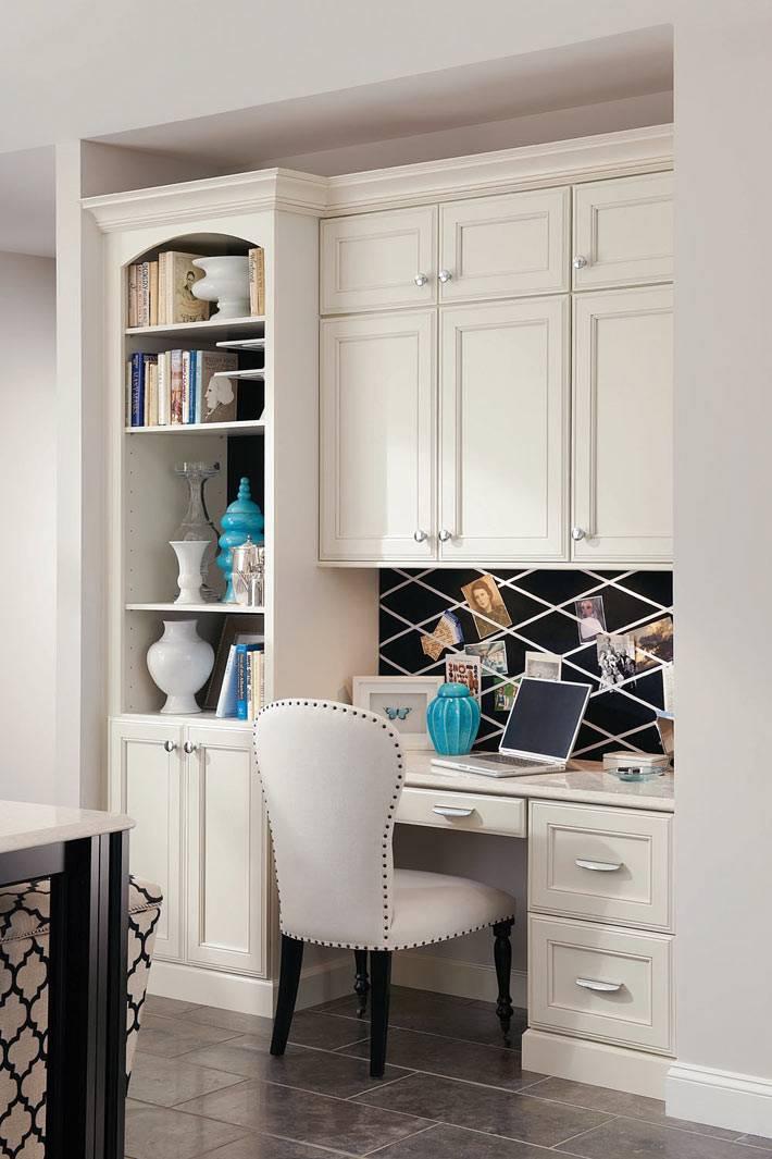 удобное рабочее место на кухне для хозяйки