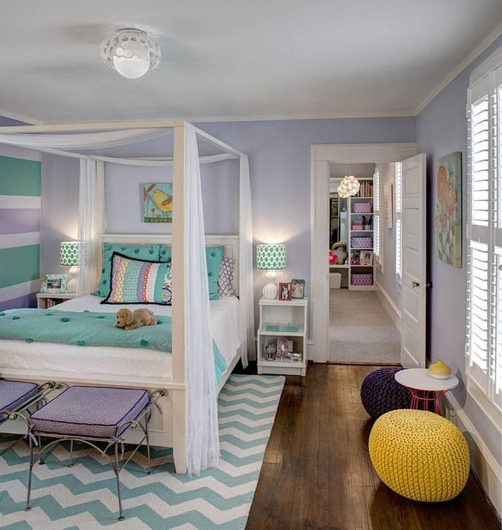 геометрический рисунок зигзаг в дизайне детской комнаты