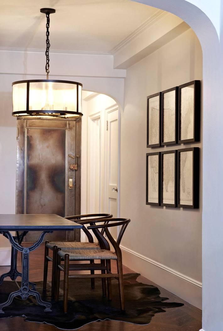 арочный проем в интерьере столовой комнаты в доме