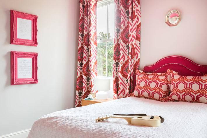 розовый цвет в декоре и дизайне спальни для подростка