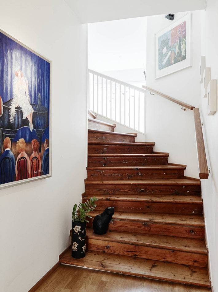 двухуровневая квартира в швеции фото