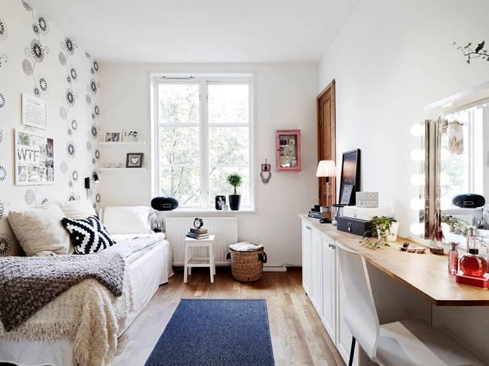 белый цвет в комнате для девушки-подростка фото