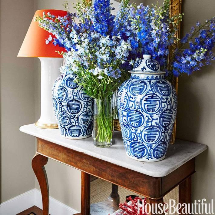 китайские вазы в интерьере фото