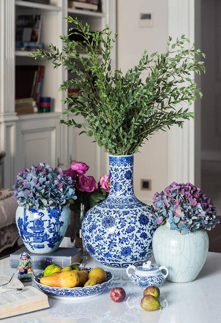 разные китайские вазы для декора интерьера