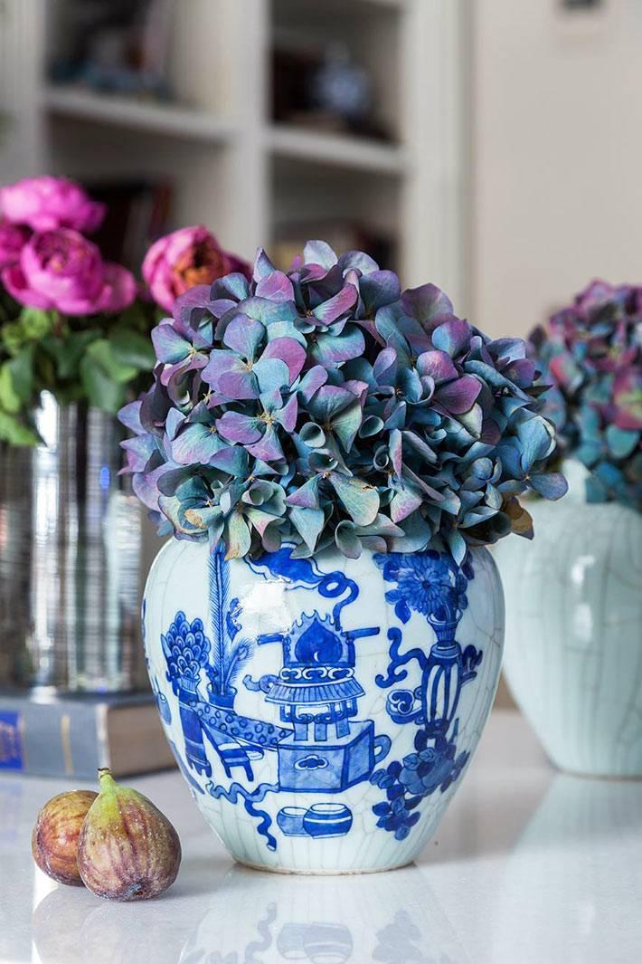 китайские вазы с традиционной росписью для цветов