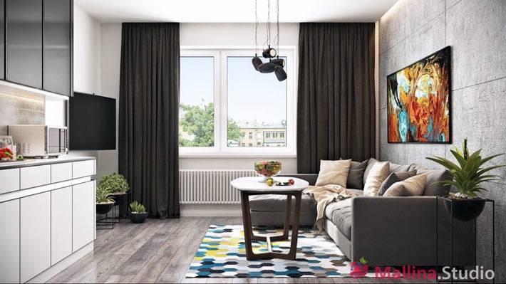 современный дизайн интерьера гостиной комнаты