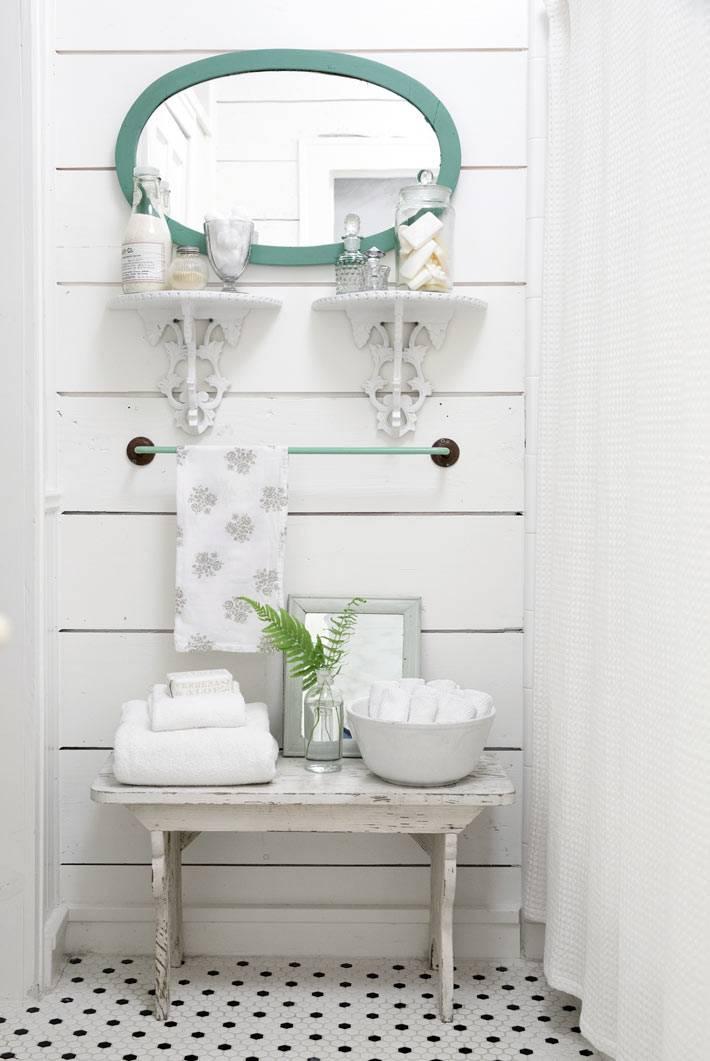 дизайн интерьера ванной комнаты в кантри стиле