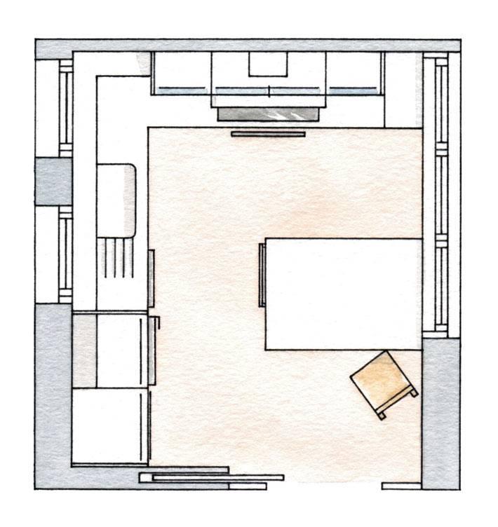 схематическая планировка кухни фото