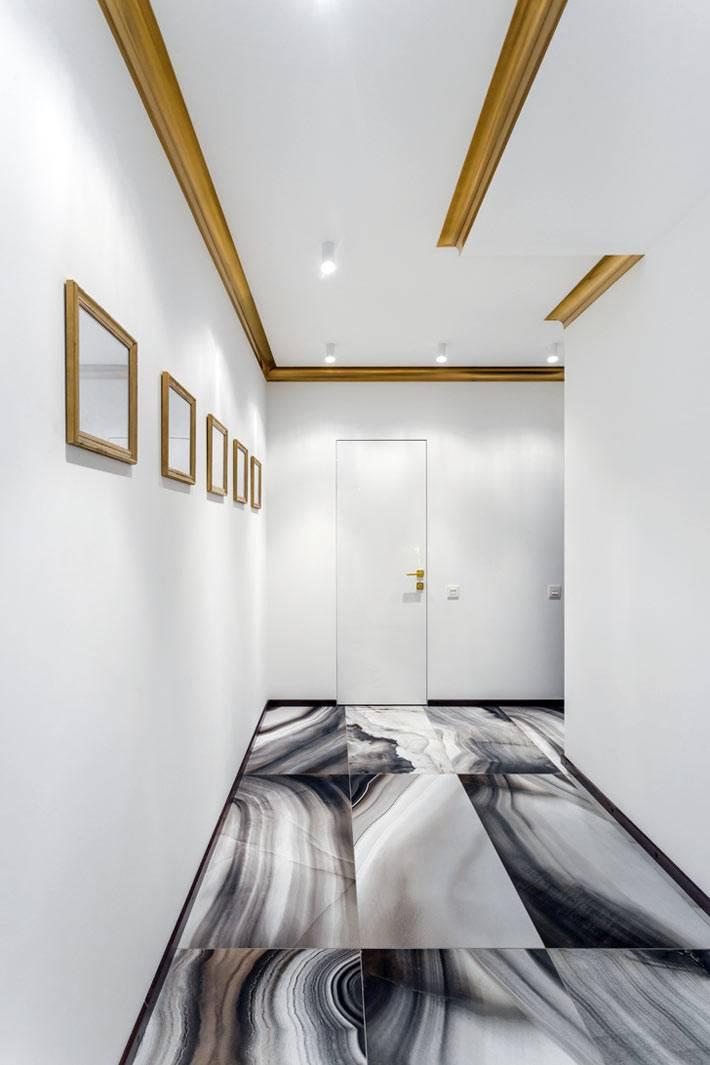 мраморный пол в дизайне интерьера квартиры