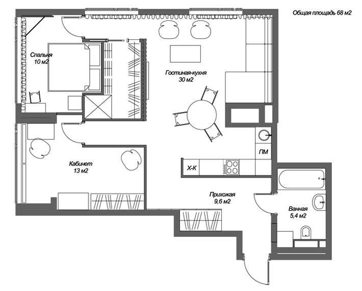 план квартиры в Нижнем Новгороде фото