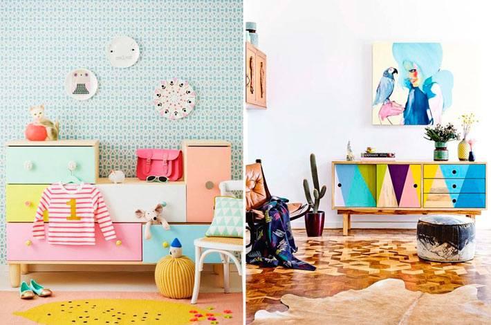 яркие элементы мебели для жизнерадостного интерьера