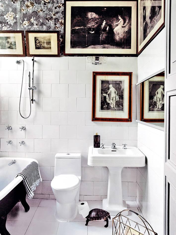 картины в интерьере ванной комнаты