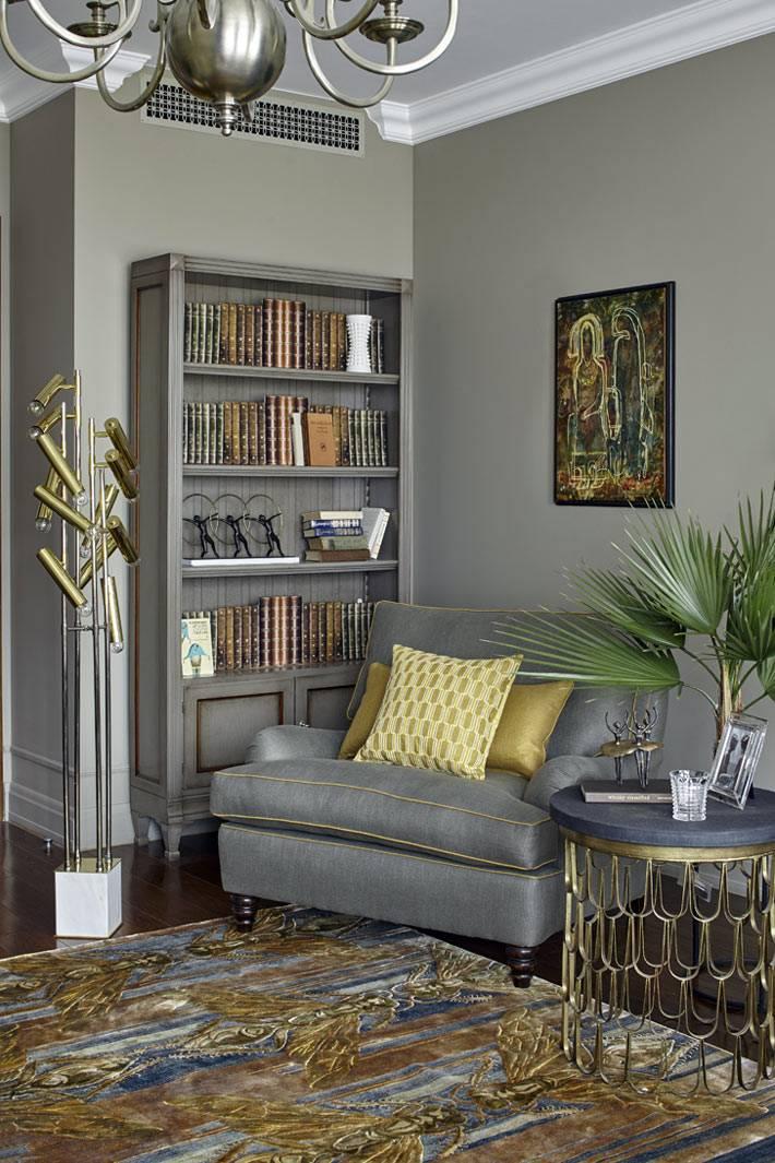 классика в дизайне интерьера квартиры в серых тонах
