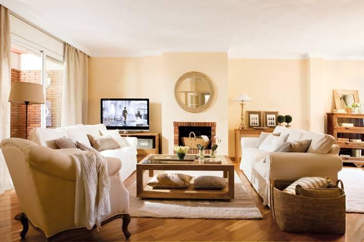 бежевый цвет в оформлении интерьера дома