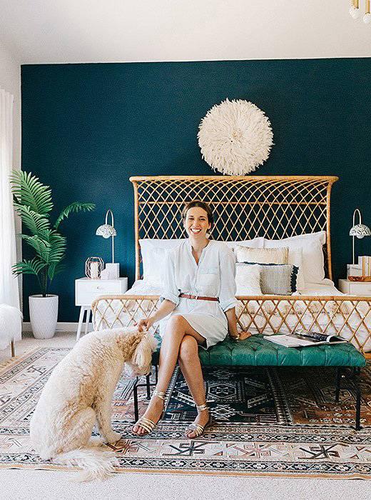 Красивый дизайн спальни от Jessica McCarthy фото