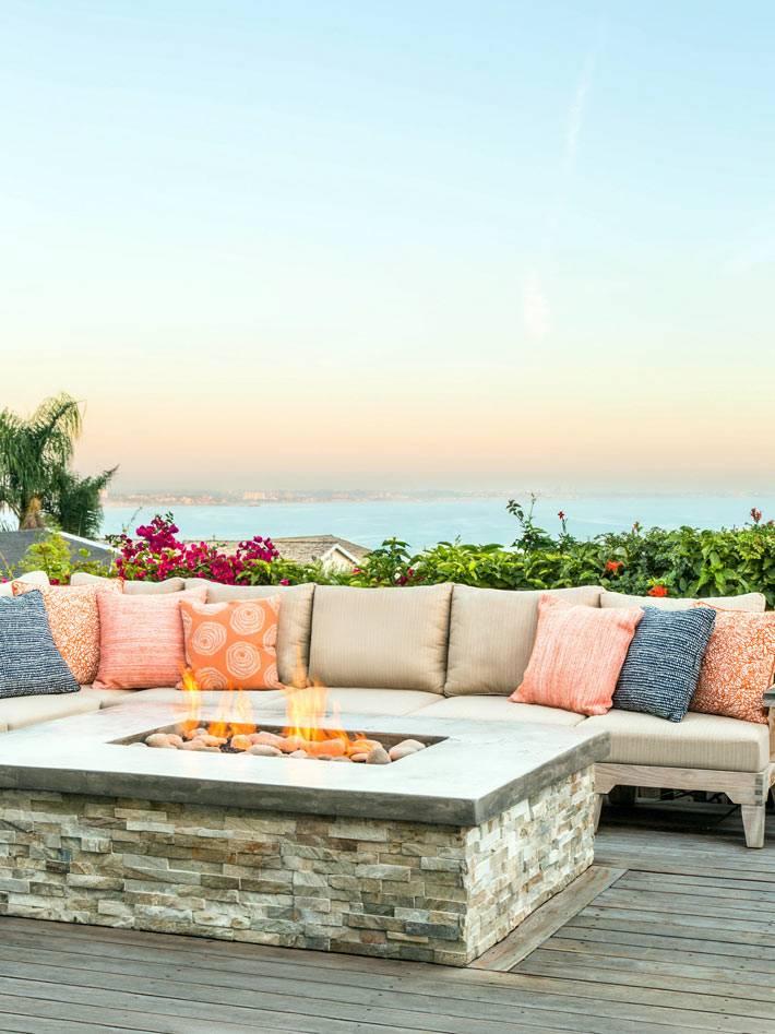 красивый дом в Калифорнии с видом на океан