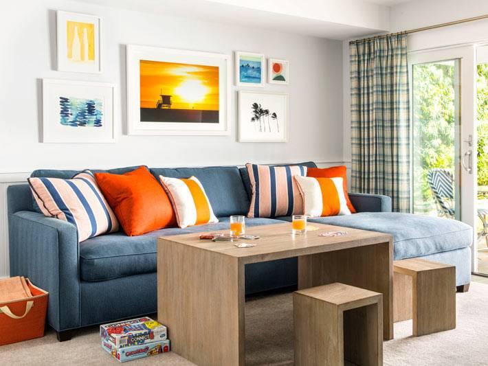 красивый дизайн интерьера комнаты для отдыха фото