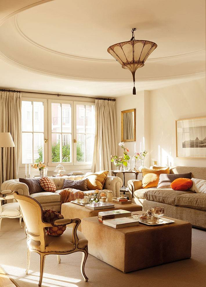 Красивый дизайн интерьера квартиры в Мадриде фото