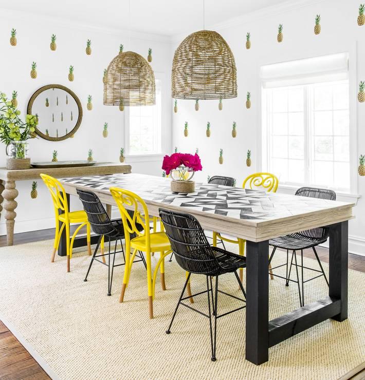 Яркий дизайн интерьера пляжного дома от Chango&Co фото