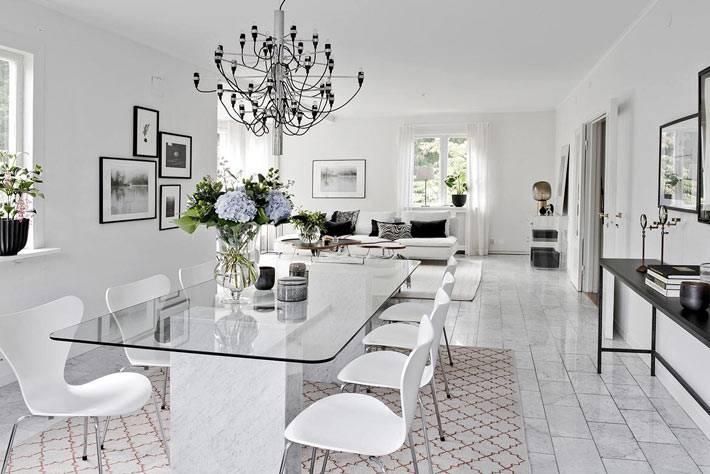 Красивый скандинавский дизайн загородного дома в Швеции фото
