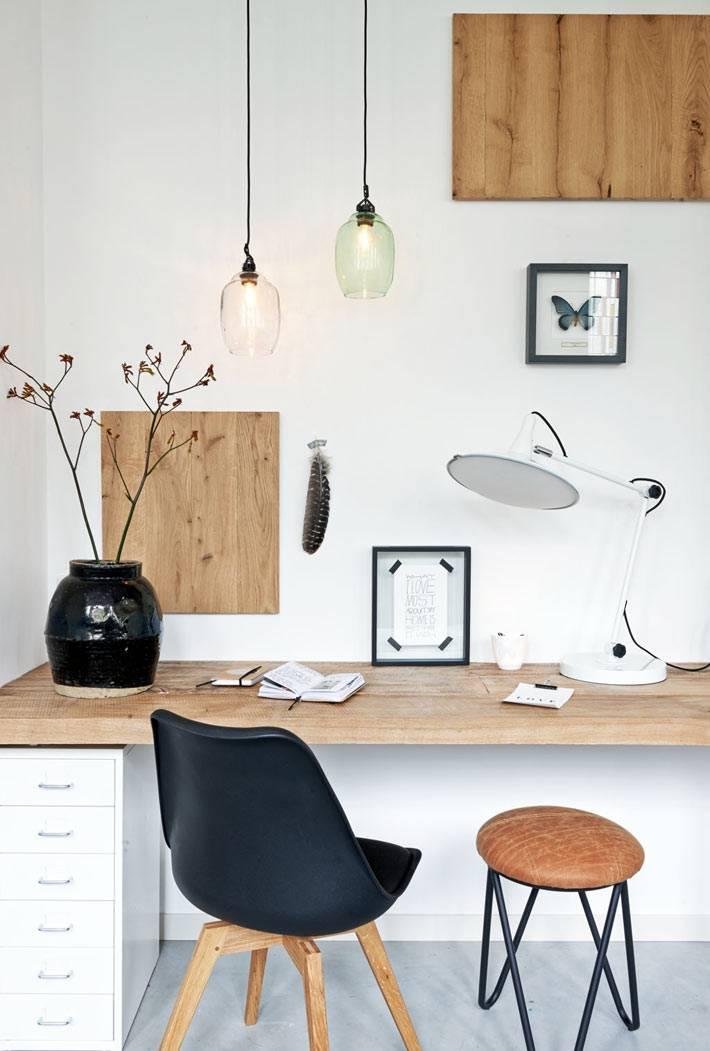 дерево в дизайне и декоре рабочего кабинета фото
