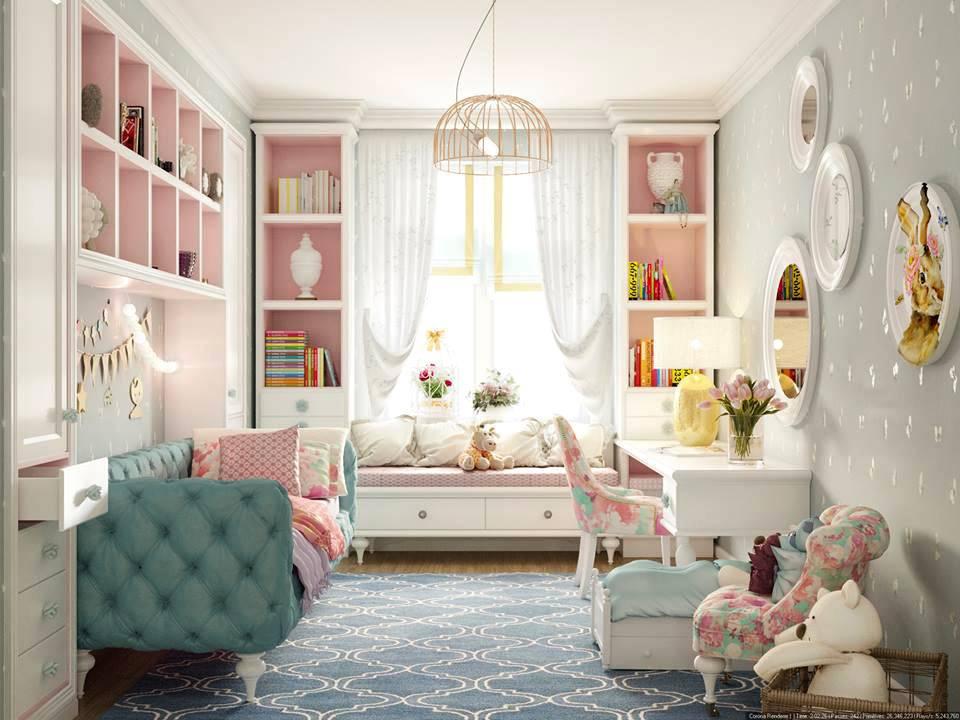 хорошо обставленная детская с мебелью от компании Rodnini Home