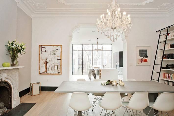 скандинавский минимализм в дизайне столовой комнаты фото