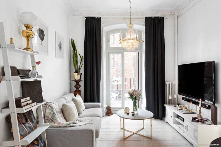 Элегантный дизайн интерьера квартиры в Швеции фото