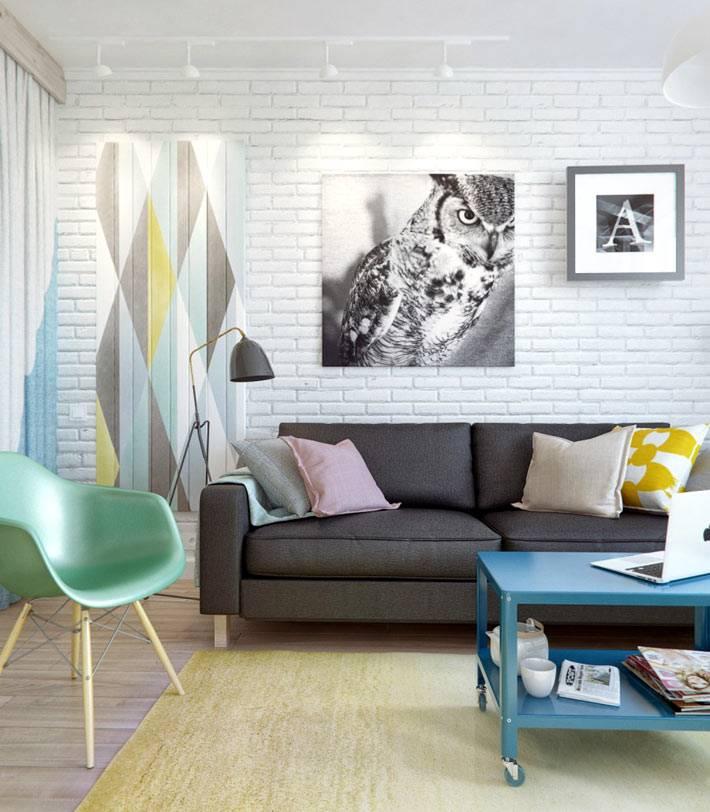 функциональный дизайн однокомнатной квартиры фото