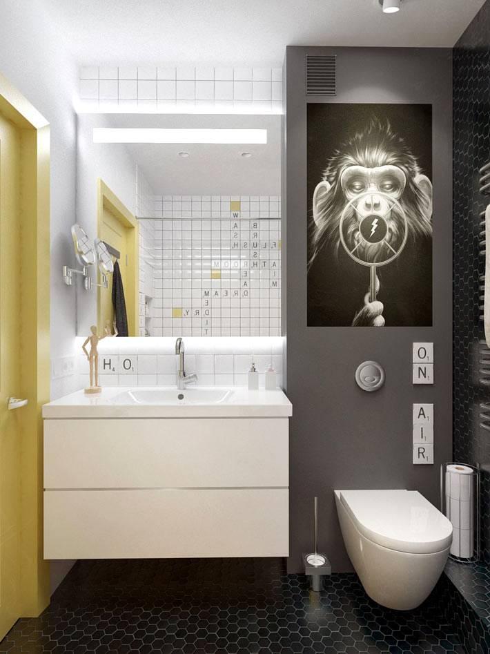 интересный дизайн ванной комнаты фото