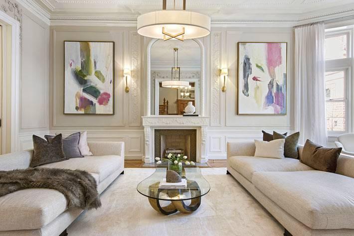 сдержаный и роскошный интерьер большой квартиры фото