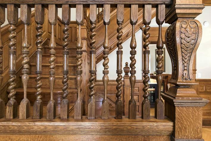 деревянная лестница с резными перилами своими руками