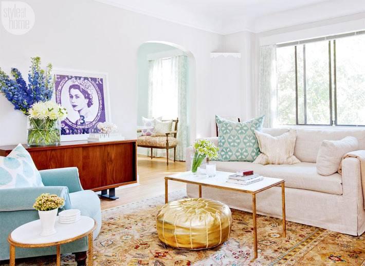 винтажные элементы мебели в интерьере маленькой квартиры