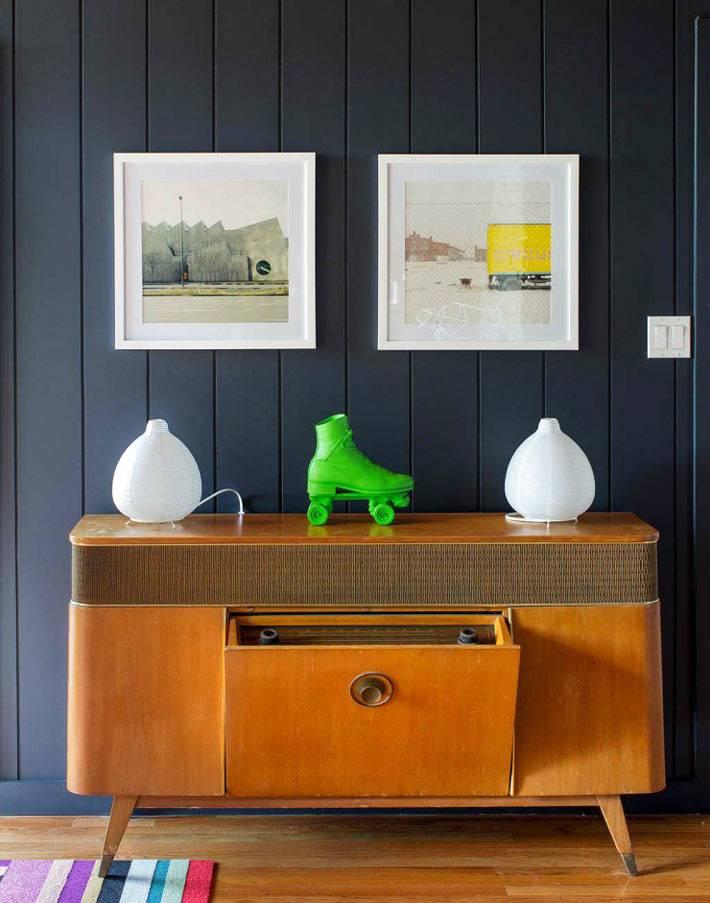 винтажная мебель в дизайне интерьера дома
