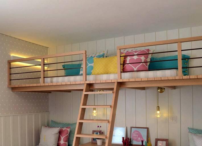 игровая детская комната на втором ярусе фото
