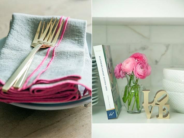 красивый декор и красивая посуда на кухне фото