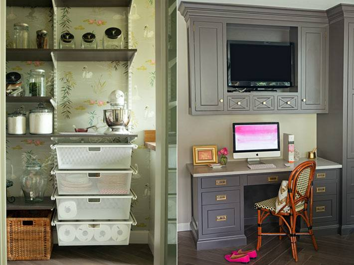 хранение и рабочая зона на кухне