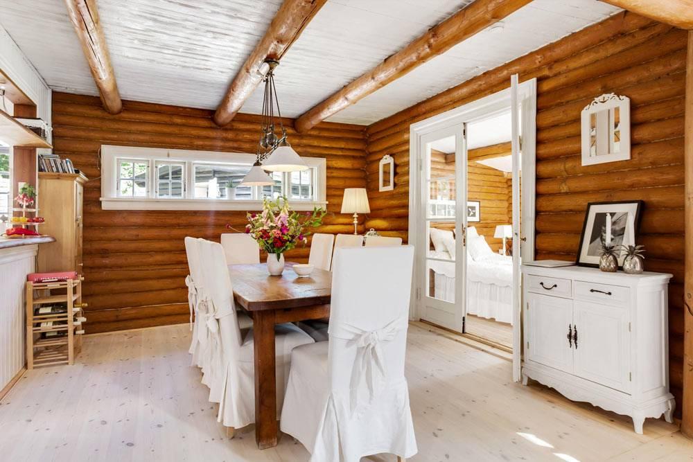 дизайн кухни и столовой в эко-стиле фото