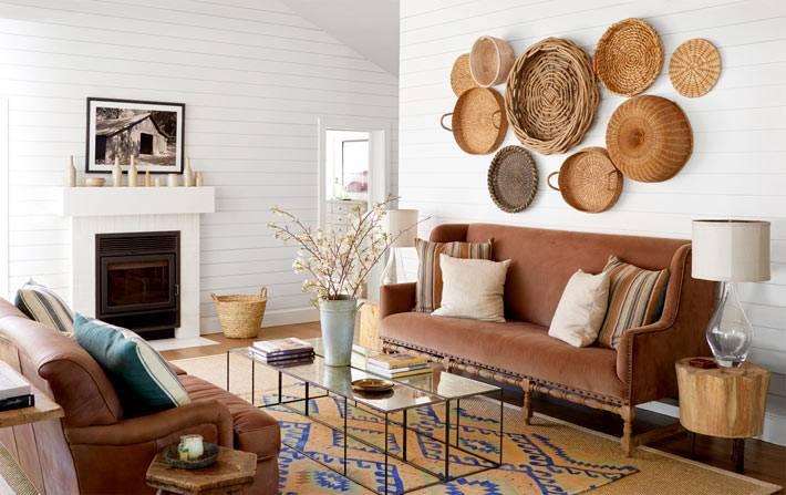 эко декор в интерьере дома в Калифорнии фото