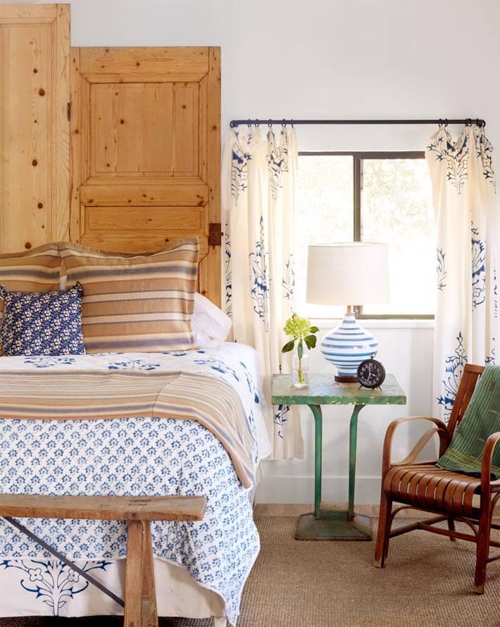 деревянное изголовье кровати в дизайне спальни фото